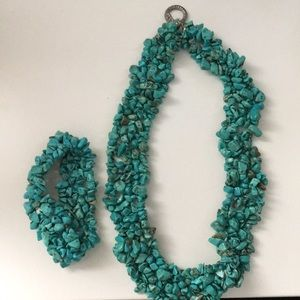 Chunky Turquoise Necklace set
